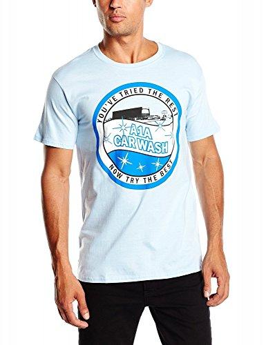 Coole-Fun-T-Shirts Herren A1A Car Wash-Heisenberg Original-Breaking Bad Sky T-Shirt, Blau, S