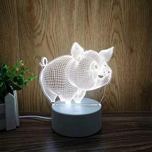 Nachtlicht 3D Traum Geschenk Stereo Schlafzimmer-süßes Schwein nachtlicht steckdose bewegungsmelder nachtlicht steckdose
