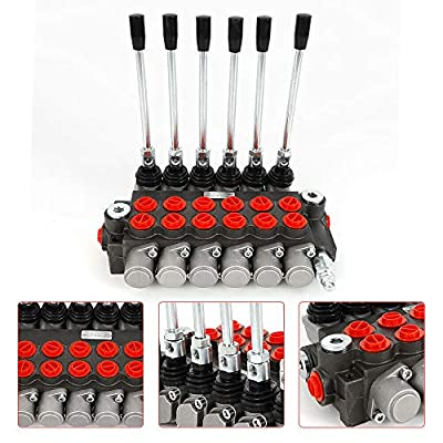 Tractors Loaders Heavy Duty 6 Spool Hydraulic Directional Control Valve Assembly 11gpm Double Acting Cylinder 40l/min 2 Acting Cylinder Spool 11KG USA Stock by Gdrasuya