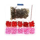 BITEYI Coloridos Plastic Narices de Seguridad DIY Vistoso Craft Narices con Arandelas 130 ...