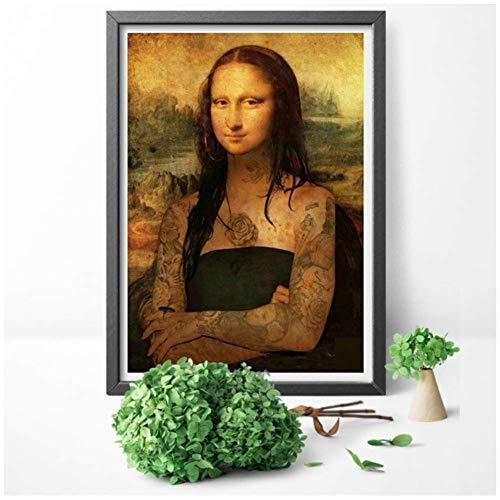 NRRTBWDHL Leinwand Malerei Druck Lustige Wandkunst Lisa Rauchen Joint Poster Home Decoration Bild Wohnzimmer-No Frame