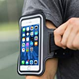 Azacus Adjustable Mobile Holder Sports Armband for Running for Screen Size Upto 6
