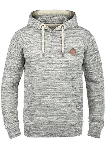 !Solid Kevin Herren Kapuzenpullover Hoodie Pullover Mit Kapuze Und Fleece-Innenseite, Größe:XXL, Farbe:Light Grey Melange (8242)