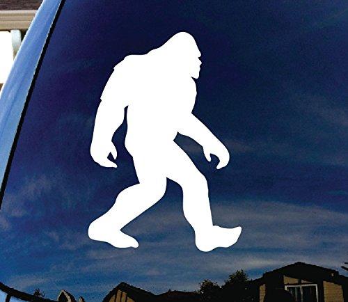 CMI106 Bigfoot Sasquatch Car Window White Vinyl Decal Sticker 7.25' Tall  ...