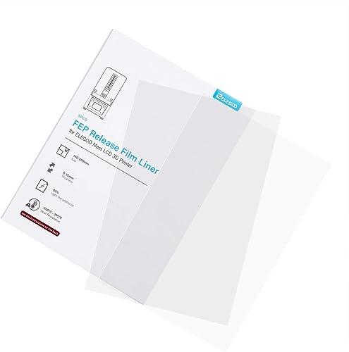 ELEGOO 5PCs FEP Release Film for ELEGOO Mars LCD 3D Printer 140200 MM 0.15mm Thickness