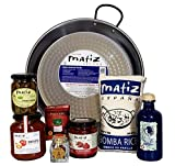 Matiz España Deluxe Authentic Paella Kit with Traditional Pan and Ingredients...