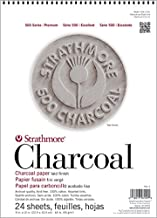 Strathmore (561-1 STR-561-1 24 Sheet Assorted Tint Charcoal Pad, 9 by 12
