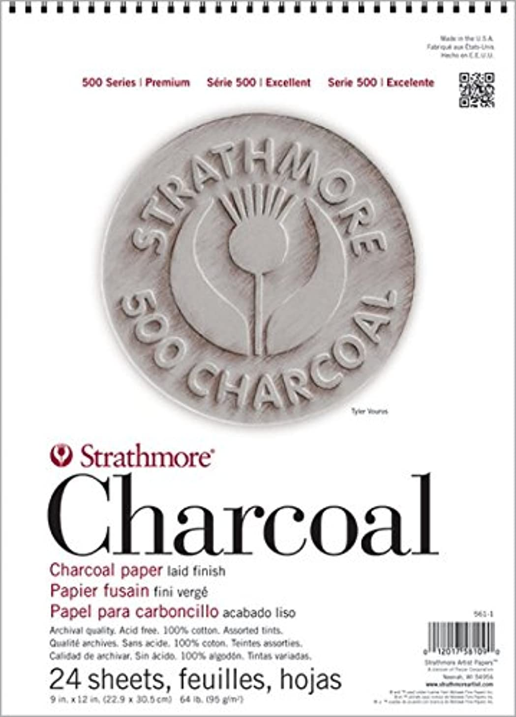 Strathmore ((560-2 500 Series Charcoal Pad, 12
