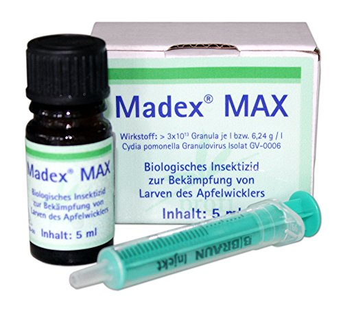 Agrinova Madex® MAX - 5 ml Granulosevirus-Präparat gegen Larven des Apfelwicklers