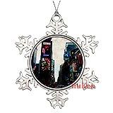 happygoluck1y Times Square - Adornos de Navidad para árbol de Navidad, decoración del hogar para niños