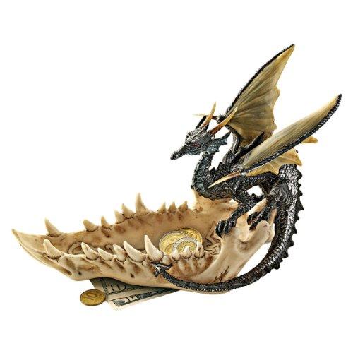Design Toscano Mascella del Drago Offrendo Piatto, 2 Pints, 9x23x16.5 cm