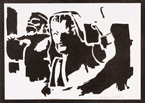Poster Clash Royale Mago de Hielo Grafiti Hecho a Mano - Handmade Street Art - Artwork