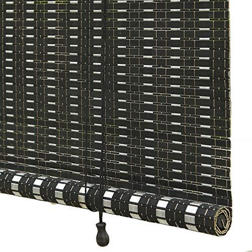 Seitenzug- & Springrollos Bambusvorhang Schwarze Bambus-Rollo mit Haken, Pergola 80{11f955aa9f6dcba73760a8cc838e68db842f6071671928464e83a426a9a471e4} UV-Schutz Roll Up Shade Roller, Leicht zu Installieren Jalousie (Size : 130x175cm)
