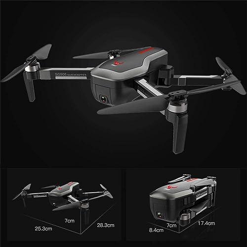 LHJCN Mini Drone Piste Atterrissage Batterie 10 Ans Professionnel Enfant Professionnel WiFi Et écran Rc Pliable Stabilisé Quadcopter Telecomhommede Adulte