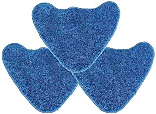 Bluwhale 3 Pack Washable Microfibre Cleaning Mop Pads Replacement Compatible with Vax Steam Cleaner S85-CM S86-SF-CC S86-SF-C