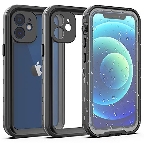 YOGRE for iPhone 12 Mini Waterproof Case, Full Body Protection with Screen Protector, Shockproof...