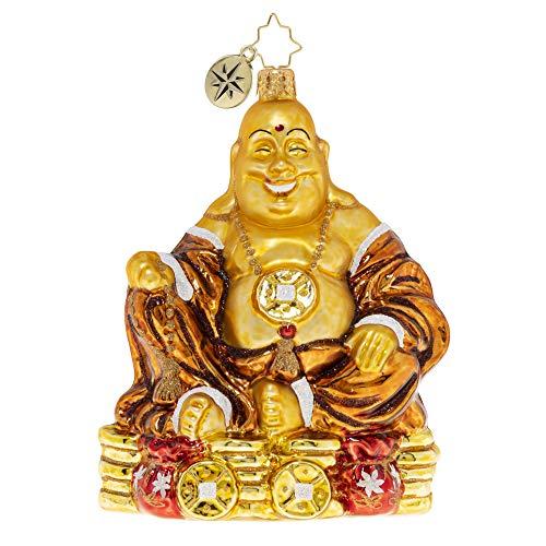 Christopher Radko Hand-Crafted European Glass Christmas Ornament, Ain't Life Rich? Buddha
