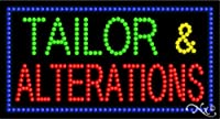 17x 32x 1インチTailor & Alterationsアニメーション点滅LEDウィンドウサイン