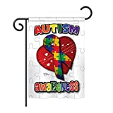 Breeze Decor G165085 Autism Awareness Inspirational Support Decorative Vertical Garden Flag, 13' X 18.5', Multi-Color