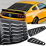 E-cowlboy Rear+Side Window Louvers Windshield Sun Shade Cover GT Lambo Style for Ford Mustang 2005 2006 2007 2008 2009 2010 2011 2012 2013 2014 (ABS Matte Black)