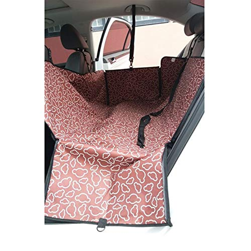 DIYHM Travel Dog Car Seat Cover Pet Carriers Blanket Mat Hammock Protector Carrying for cats dogs transportin perro Dogs and Armrest Fits Cars, Universal Size Fits fo (Color : Coffee)