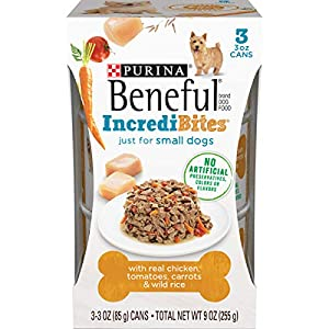 Purina Beneful Small Breed Wet Dog Food, IncrediBites With Chicken – (8 Packs of 3) 3 oz. Cans