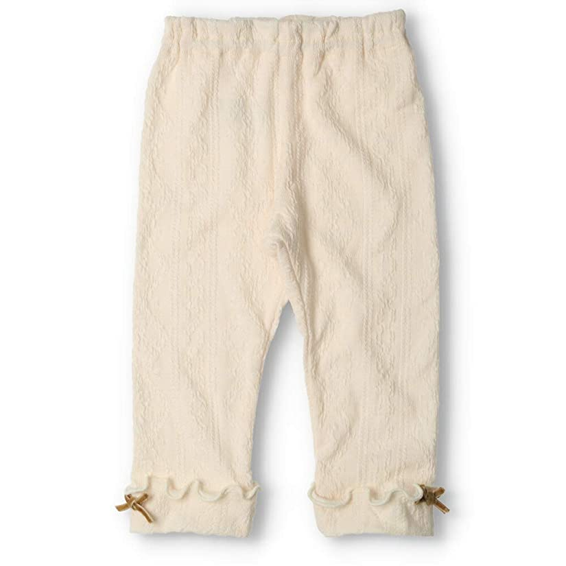 保存疑い者雑品【子供服】 kids zoo (キッズズー) ケーブルニット裾折り返しレギンス 70cm~95cm W63001