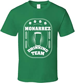 SHAMBLES TEES Monarrez Drinking Team St. Patrick's Day Last Name Group T Shirt