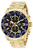 Invicta Men's Specialty 45mm Gold Tone Stainless Steel Chronograph Quartz Watch, Gold (Model: 14878)