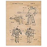 Vintage Transformers Classic Megatron Patent Poster Prints, Set of 1 (11x14) Unframed Photo, Wall Art Decor Gifts Under 15 for Home, Office, Man Cave, College Student, Teacher, Comic-Con & Movies Fan