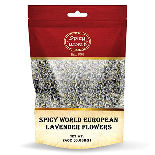 Spicy World European Lavender Flowers 1.25 Pound Bag (20 Ounce) - Dried Culinary Lavender Buds - Great for Tea, Aromatherapy, Potpourri and more!