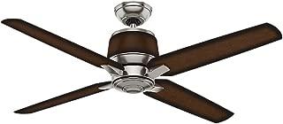 Casablanca Indoor / Outdoor Ceiling Fan, with wall control - Aris 54 inch, Brushed Nickel, 59123