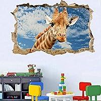 UYEDSRウォールステッカー野生動物キリンウォールステッカートランスファーデカールアート壁画プリントポスター60x90cm