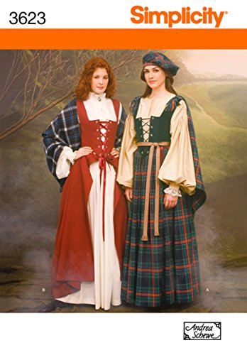 Simplicity Sewing Pattern 3623 Misses Costumes, HH (6-8-10-12)