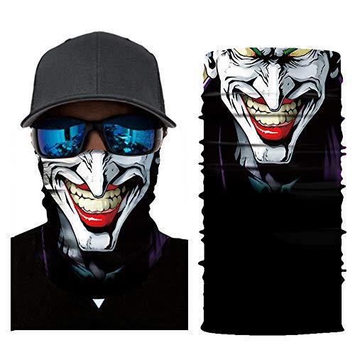 mxjeeio Bedrucktes Multifunktionstuch mit ausgefallenem Design - Hochwertige Sturmhaube als Wärm- und Schutztuch - Halstuch, Face Shield, Gesichtsmaske - Verschiedene Muster