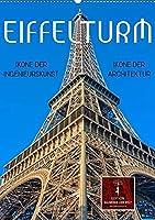 Eiffelturm - Ikone der Architektur, Ikone der Ingenieurskunst (Wandkalender 2022 DIN A2 hoch): Er gehoert zu den meistbesuchten Wahrzeichen der Welt und war von 1889 bis 1930 das hoechste Bauwerk. (Monatskalender, 14 Seiten )