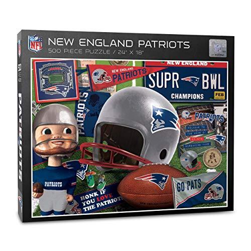 NFL Puzzle Retro Series 500 pcs Teile New England Patriots Football