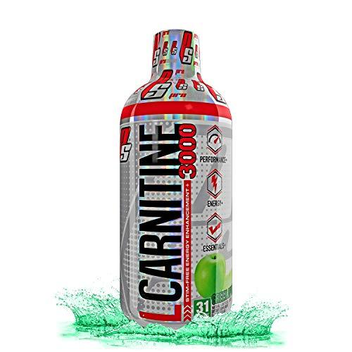 ProSupps L-Carnitine 3000 Liquid Fat Burner, Stimulant Free Metabolic Enhancer, 31 Servings (Green Apple Flavor)