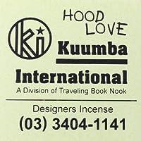 KUUMBA (クンバ)『incense』(HOOD LOVE) (Regular size)
