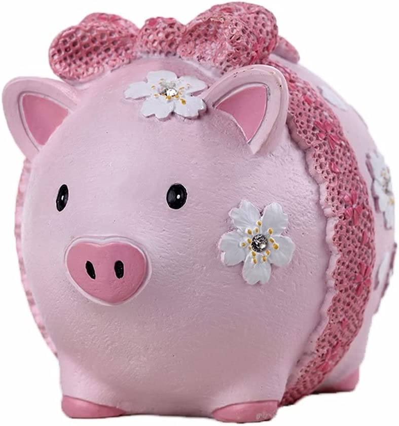 ZRJ Money OFFicial Bank Pink Piggy Gif Birthday Resin 2021new shipping free Pig