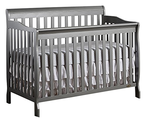 Dream On Me Ashton 5in1 Convertible Crib Storm Grey