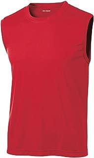 Mens Sleeveless Moisture Wicking Muscle T-Shirts. XS-4XL