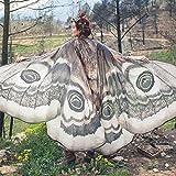 ZCRFYY Mujeres para Mujer Chal Mariposa alas de la Mariposa Dance Mariposa alas para Las Mujeres para Navidad/Halloween/Playa Party/Cosplay/Baile Traje Props 148x185cm,Style a