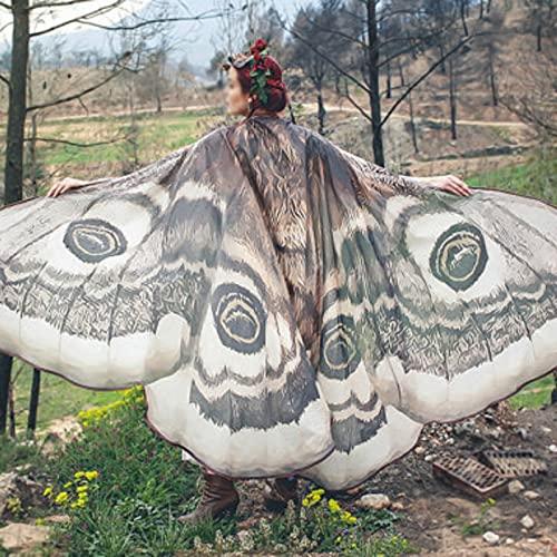 ZCRFYY Mujeres para Mujer Chal Mariposa alas de la Mariposa Dance Mariposa alas para Las Mujeres...
