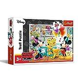 Trefl- Puzzle Mickey and Minnie Tarta de cumpleaños (TRF18211)