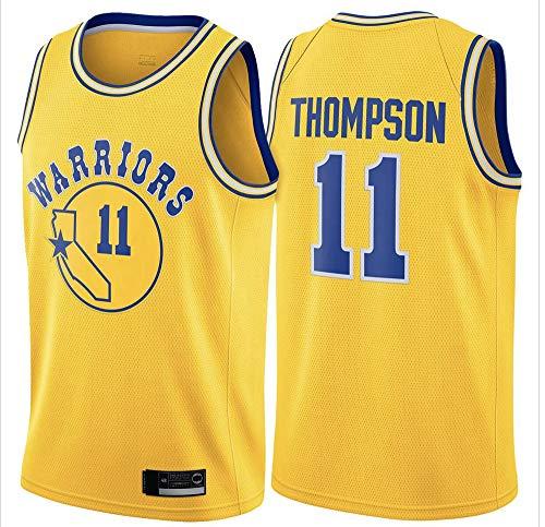 Uniformes De Baloncesto para Hombre, Golden State Warriors # 11 Klay Thompsonn NBA Basketball Jerseys Sin Mangas Camiseta Tops Tops Transpirable Chalecos Casuales,Amarillo,XXL(185~190CM)