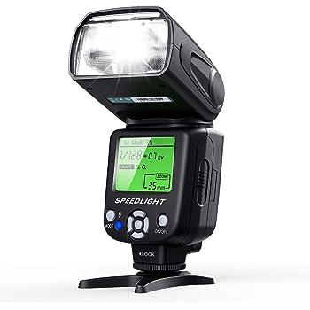 ESDDI Flash de Cámara con Múltiple, Pantalla LCD para Canon Nikon ...