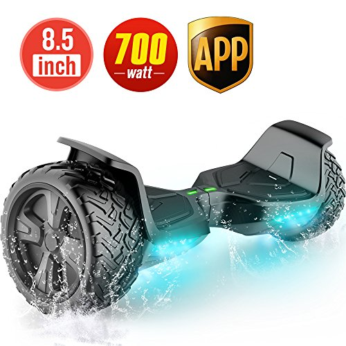 TOMOLOO Hoverboard UL2272 Certified 8.5' Wheel Black Off Road Self-Balancing Scooter for All Terrain...