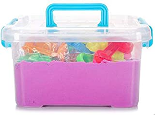 2000 Grams Magical Play Sand Toy Set with Accessories- Purple