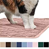 Gorilla Grip Original Premium Durable Cat Litter Mat, 35x23, XL Jumbo, No Phthalate, Water Resistant, Traps Litter from Box and Cats, Scatter Control, Soft on Kitty Paws, Easy Clean Mats, Light Pink